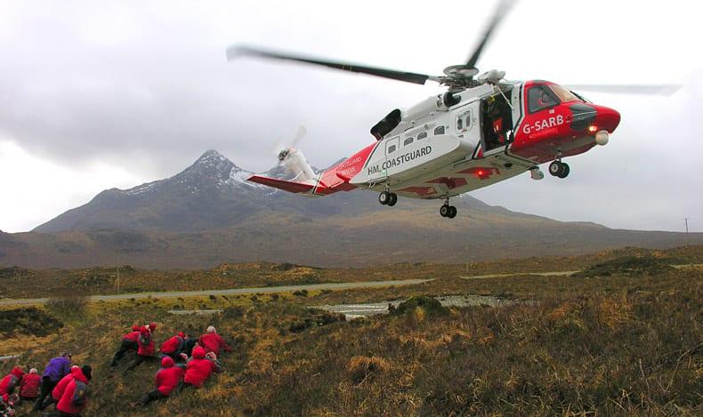 Skye MRT Training with HM Coastguard Rescue