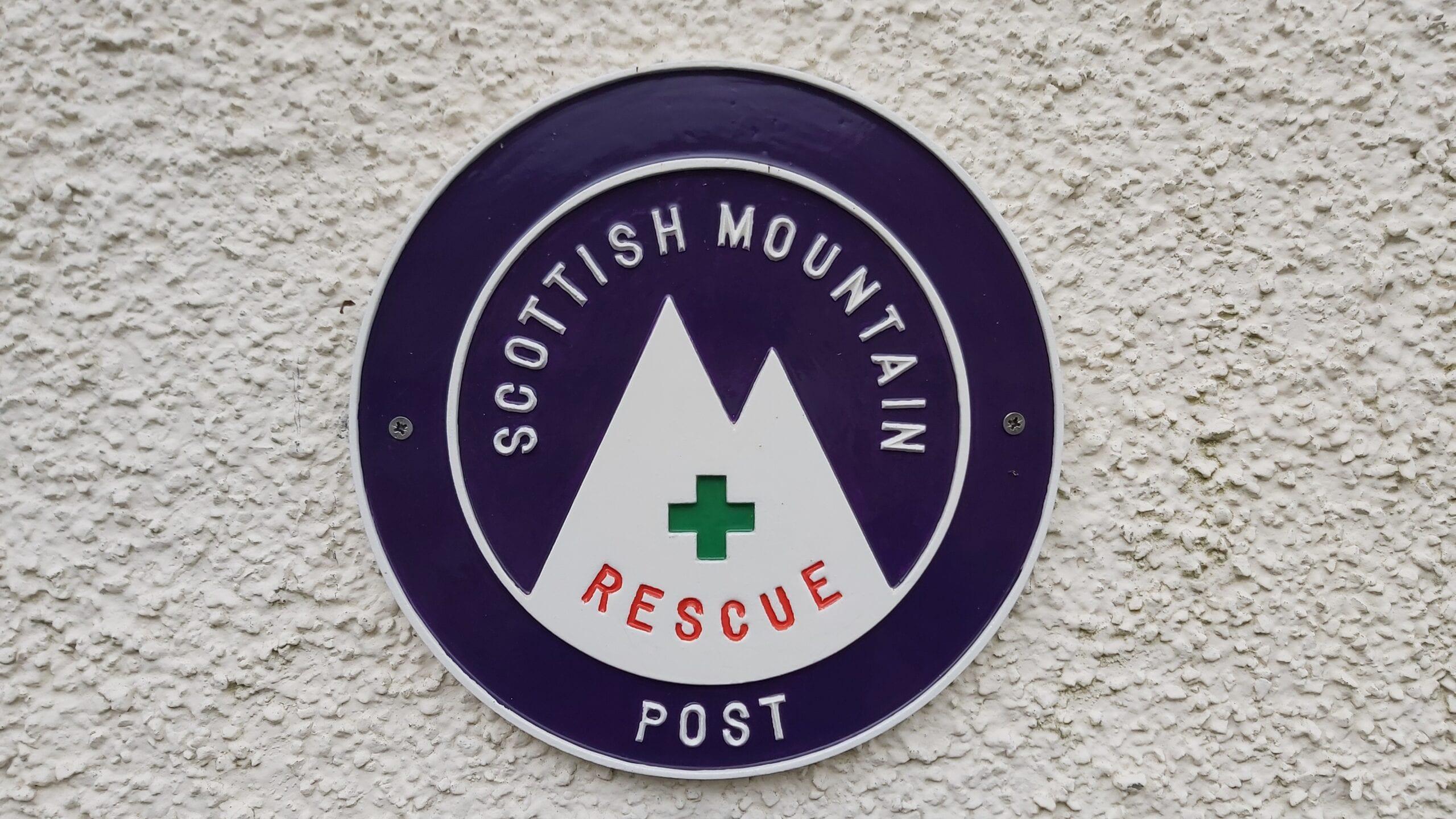Scottish Mountain Rescue Post Logo