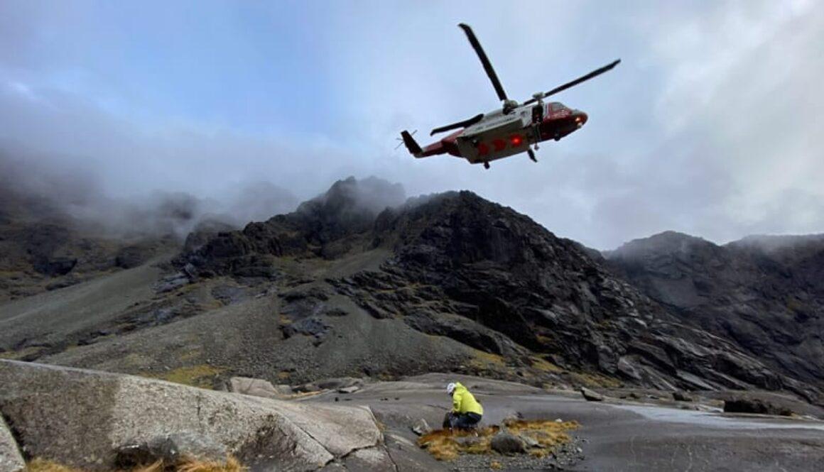 Rescue on Sgurr Alasdair, 22 October 2020
