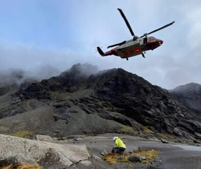 Rescue on Sgurr Alasdair, 22 October 2020