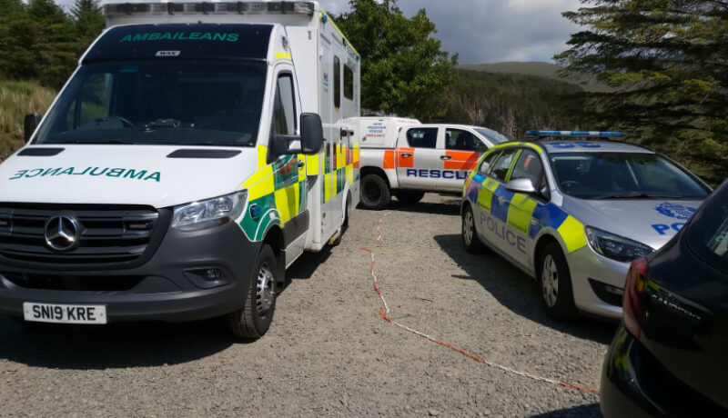 Emerfgency Services at the Fairy Pools